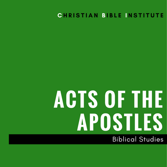 Acts of the Apostles  Biblical Studies Online Course