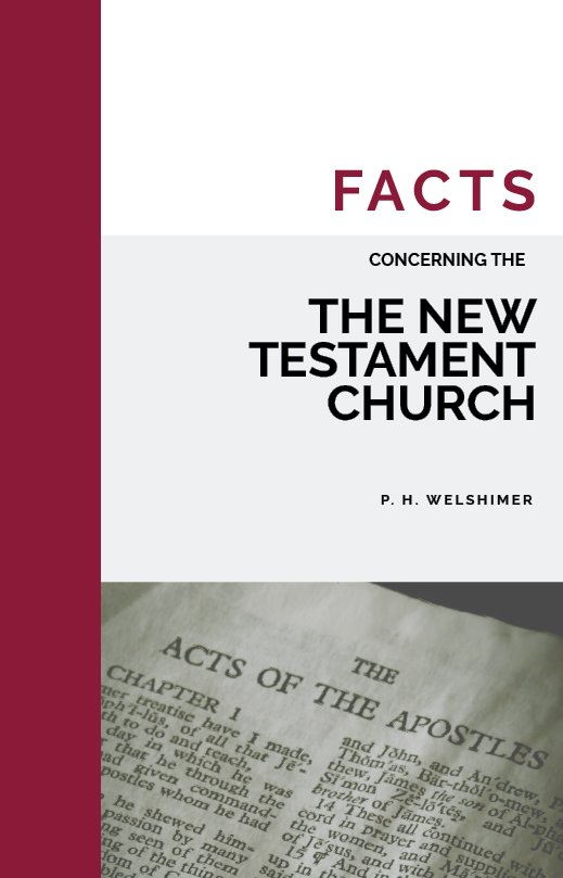 Facts Concerning the NT Church