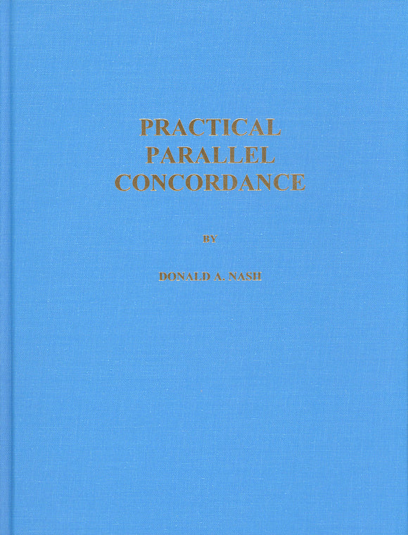 Practical Parallel Concordance by Donald A. Nash