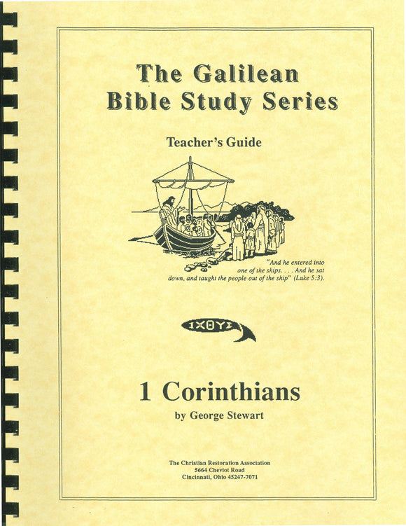 Galilean Bible Study Series - 1 Corinthians (Teacher Book) by George Stewart