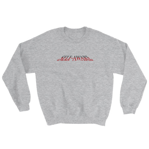 Self-aware crewneck sweatshirt