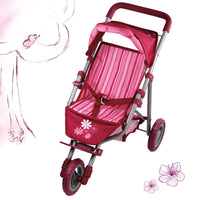 3-wheeler doll's buggy Flowers