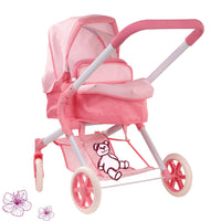 All-rounder doll's buggy Spotty Pink