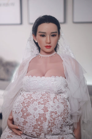 160cm Pregnant Love Doll with Silicone Head - Frida JY Doll