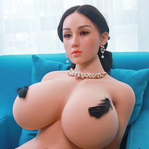 159cm Chubby Fat Sex Doll with Silicone Head - Min JY Doll