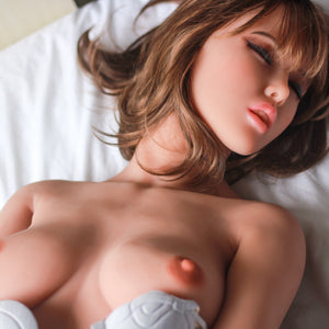 160cm Small Breasts Silicone Dolls Closed Eyes - Sheila 6Ye Doll