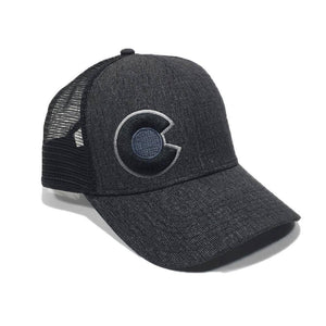 Monochromatic Trucker Hat Black