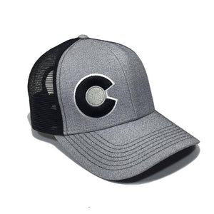 Monochromatic Trucker Hat Gray / Black