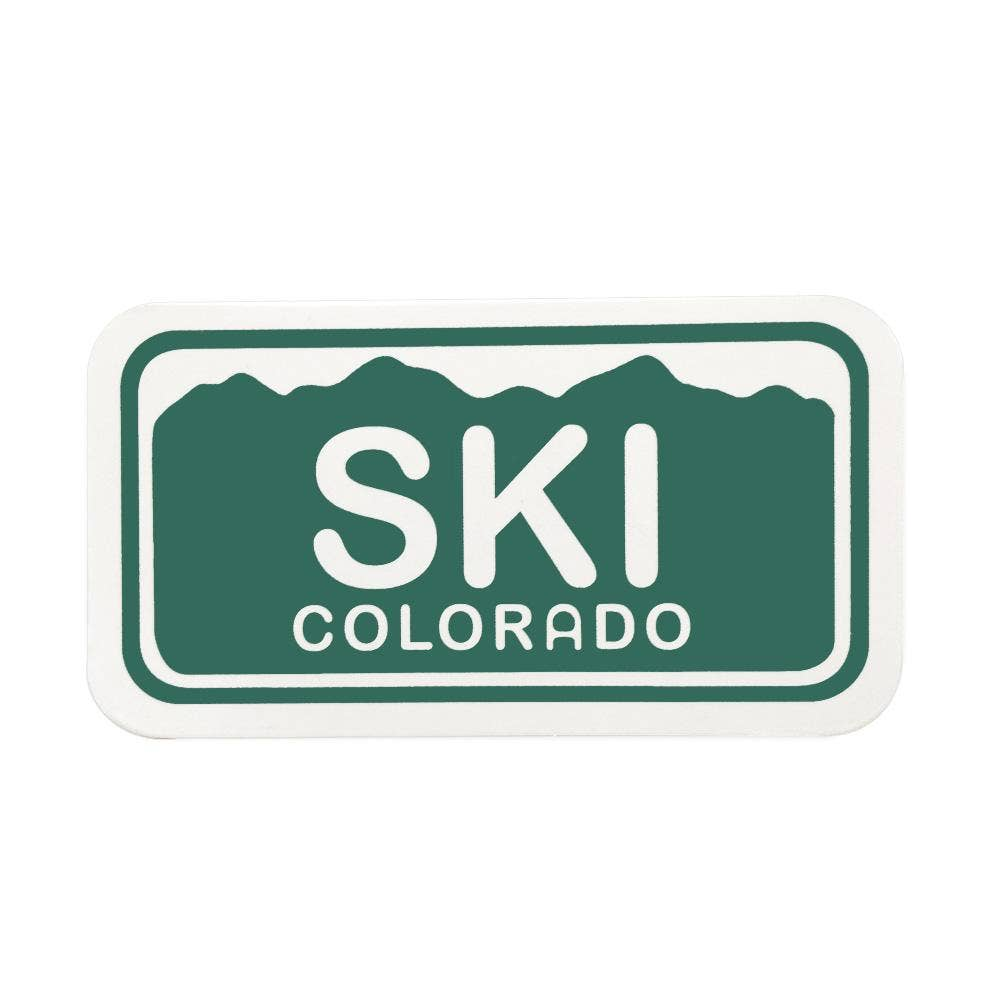 Ski Colorado License Plate Sticker