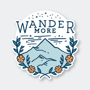 Wander More Sticker