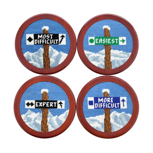 Ski Trails Set of 4 Coasters