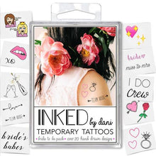 Bride To Be Temporary Tattoo Pack