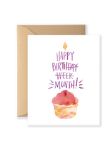 Happy Birthday Month Card