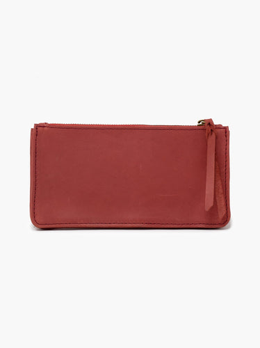 Martha Long Accordion Wallet: Brick Red