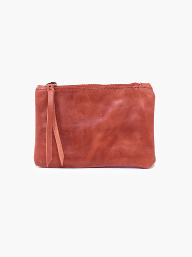 Martha Coin Pouch: Brick Red