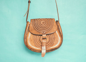Leather Saddle Purse