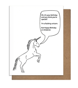 Special Unicorn Birthday Card