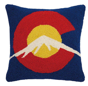 C for Colorado Hook Decorative Pillow