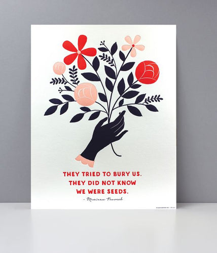 Seed of Change Letterpress Art Print
