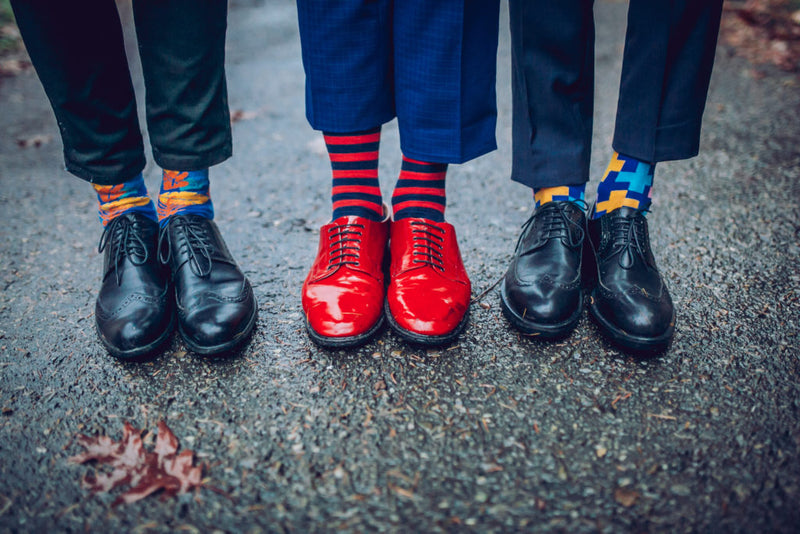 Don't Look Now But Funky Socks are Everywhere