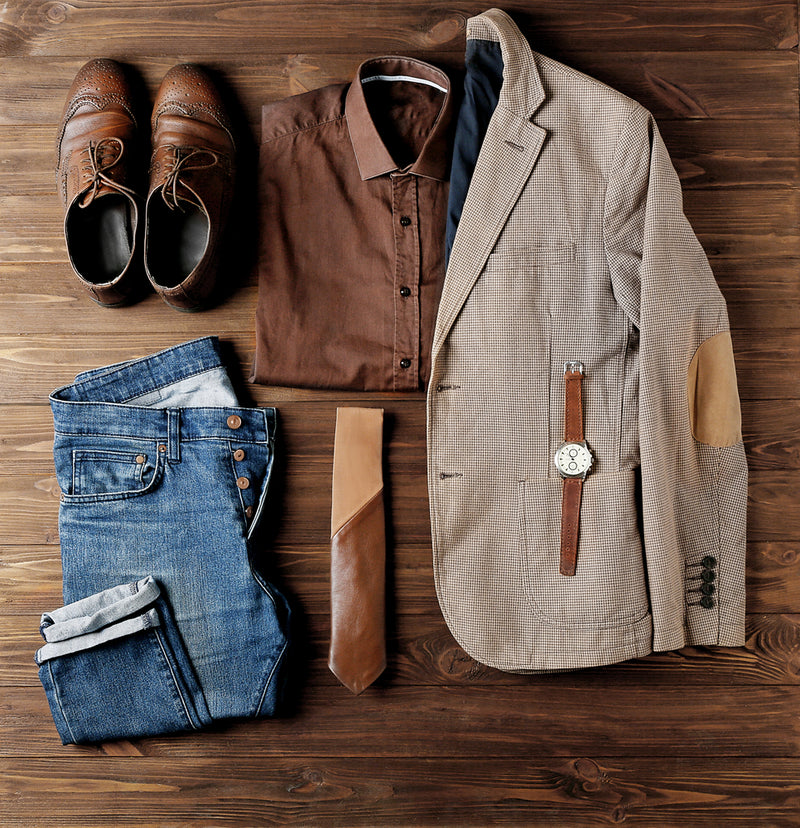Clothing piece laid out as an example of the 4 tips for developing personal men's clothing style
