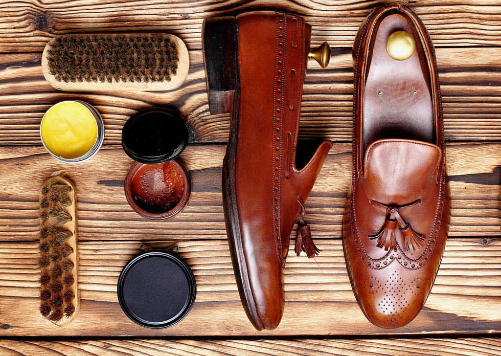 Technique with shining mens shoes | Ed's Fine Imports