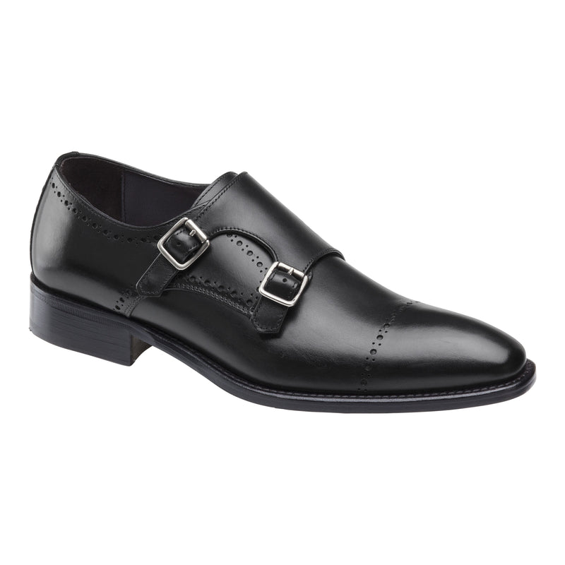 Johnston & Murphy - Reece Cap Toe Double Buckle Made In Italy 24-2715