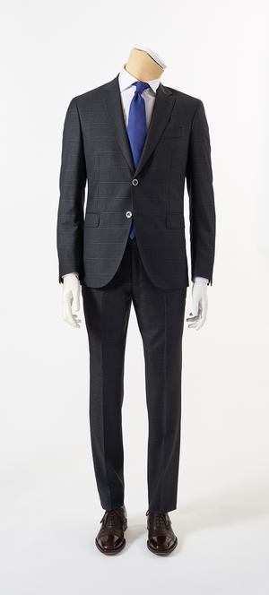 Calvaresi Suit - Charcoal Check