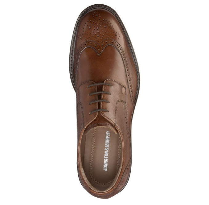 Johnston & Murphy Dress Shoes - Tabor Wing Tip Tan 20-1862
