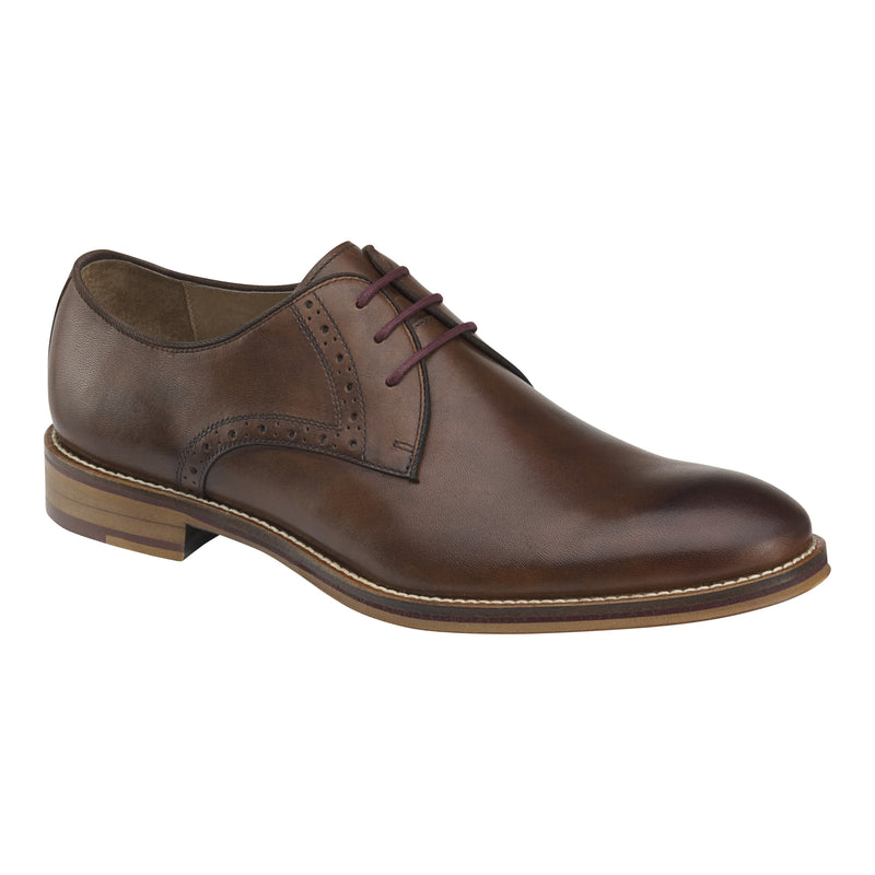 Johnston and Murphy Shoes - Conard Plain Toe Mahogany 20-2234