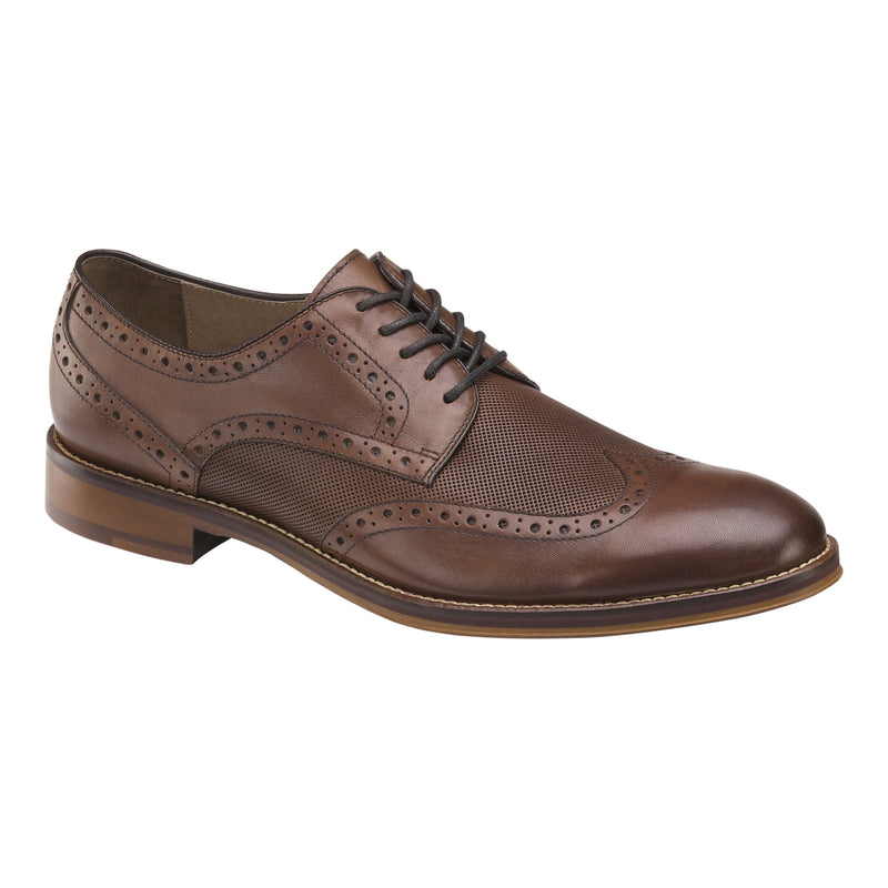 Johnston & Murphy Men's Conard Embossed Wingtip Oak 20-3894