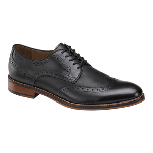 Johnston & Murphy Men's Conard Embossed Wingtip Derby Black 20-3895
