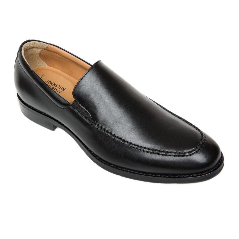 Johnston & Murphy - Mens Shoes Halford Moc Venetian Black Slip-On 20-4421