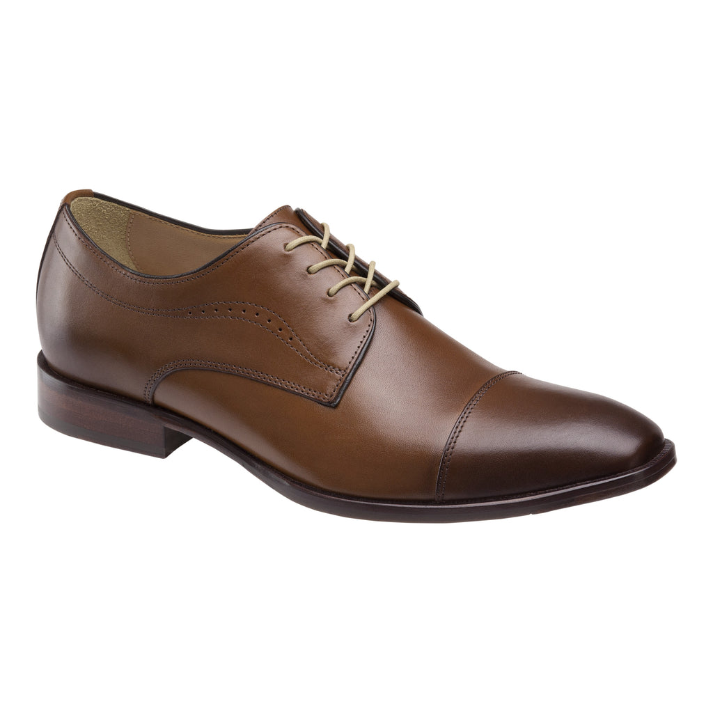 Johnston & Murphy Shoes - MCCLAIN Cap Toe Tan 20-5090