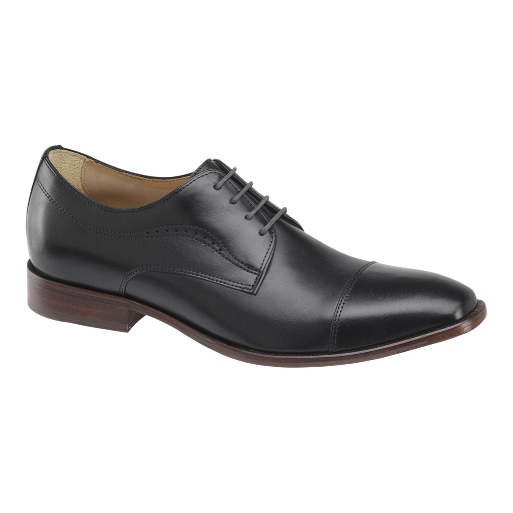 Johnston & Murphy Shoes MCCLAIN CAP TOE Black 20-9777