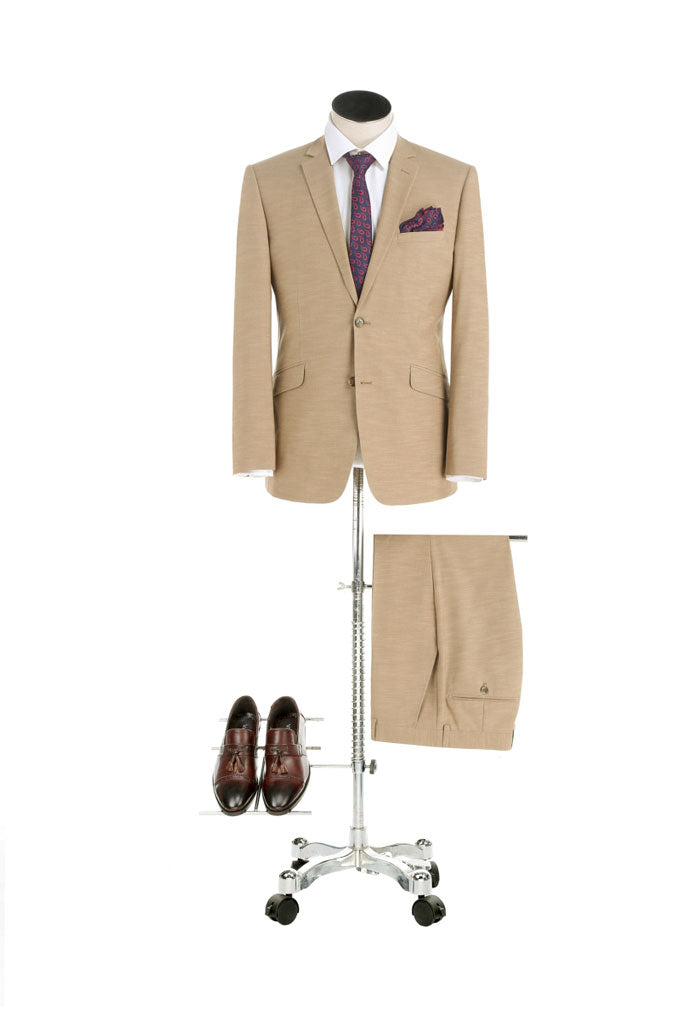 Renoir Camel Brown Suit – Slim