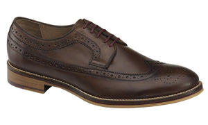 Johnston and Murphy Shoes - Mahogany Wingtip