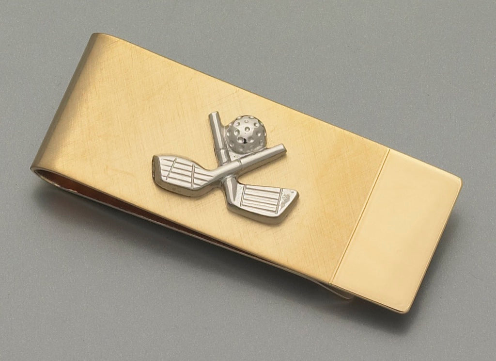 Money Clip - Golf Gold
