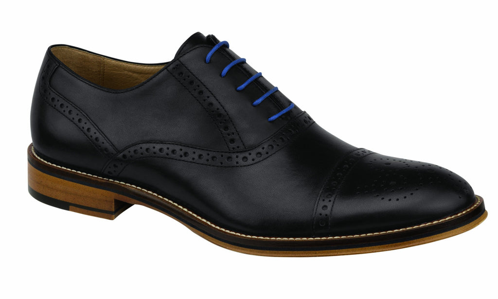 Johnston and Murphy Shoes - Black Captoe