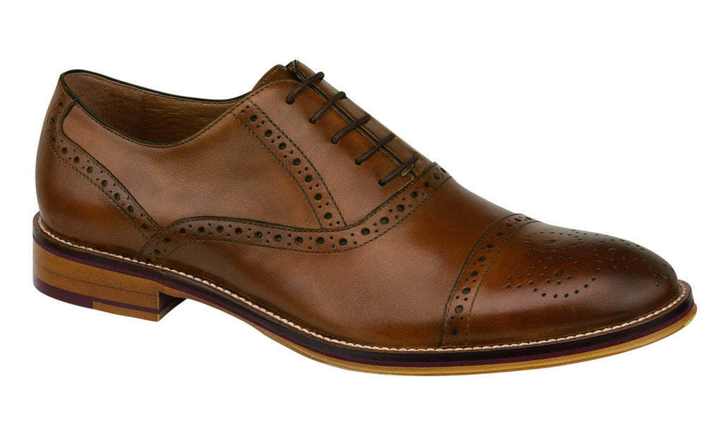 Johnston and Murphy Shoes - Conard Tan Cap Toe