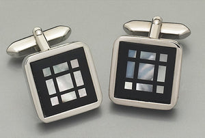 Cufflinks - 2212 Mother of Pearl/Onyx