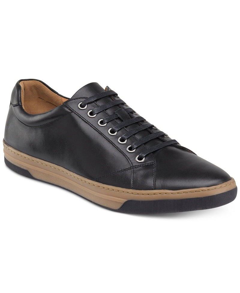 Johnston & Murphy Casual Sneaker Shoes - Fenton Lace Toe Black -25-2801