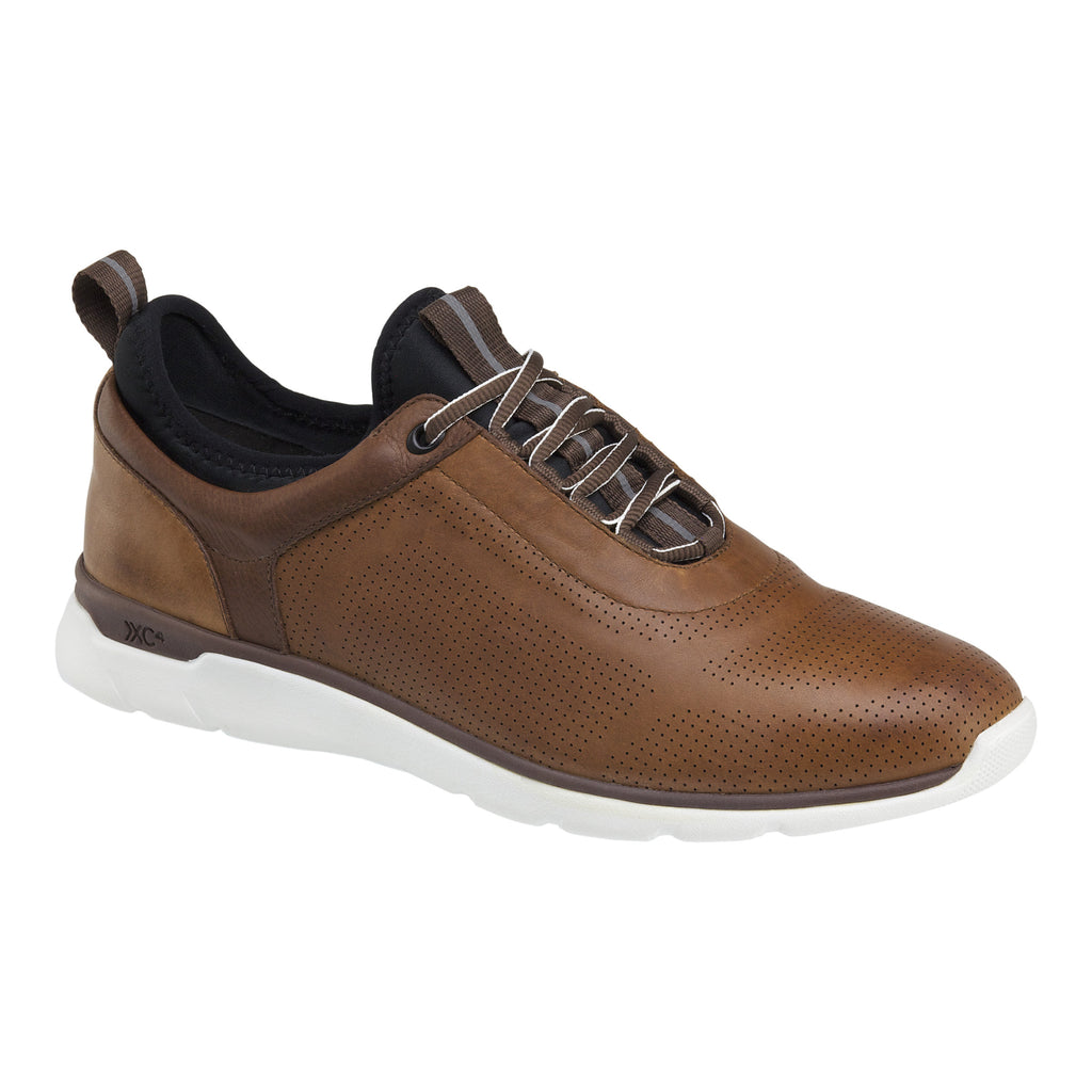 Johnston & Murphy Casual Shoes - Prentiss U-Throat Mahogany Leather 25-2964