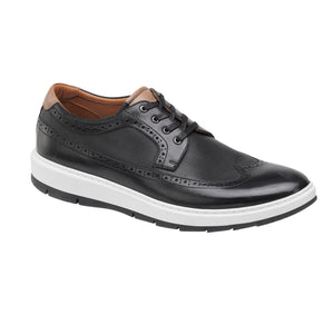 Johnston and Murphy Shoes - Elliston Embosssed Wingtip Black 25-3095