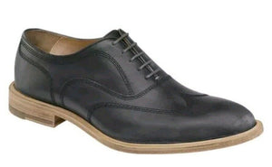 Johnston & Murphy Shoes Chambliss Wingtip Shoe Black Leather 27-1407
