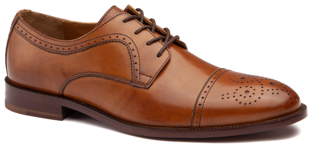Johnston & Murphy - Men's Shoes Alredge Cap Toe Tan 27-2300