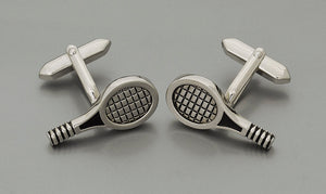 Cufflinks - Tennis Racket