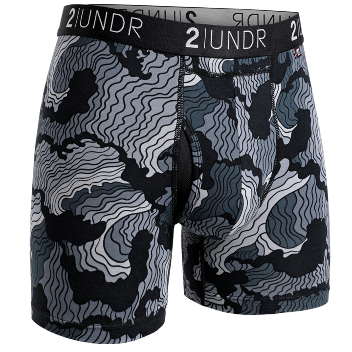 2UNDR Mens Luxury Underwear Swing Shift Boxer Briefs Tsunami