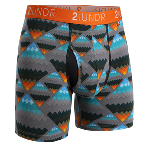 2UNDR Mens Luxury Underwear Swing Shift Boxer Briefs Aztec