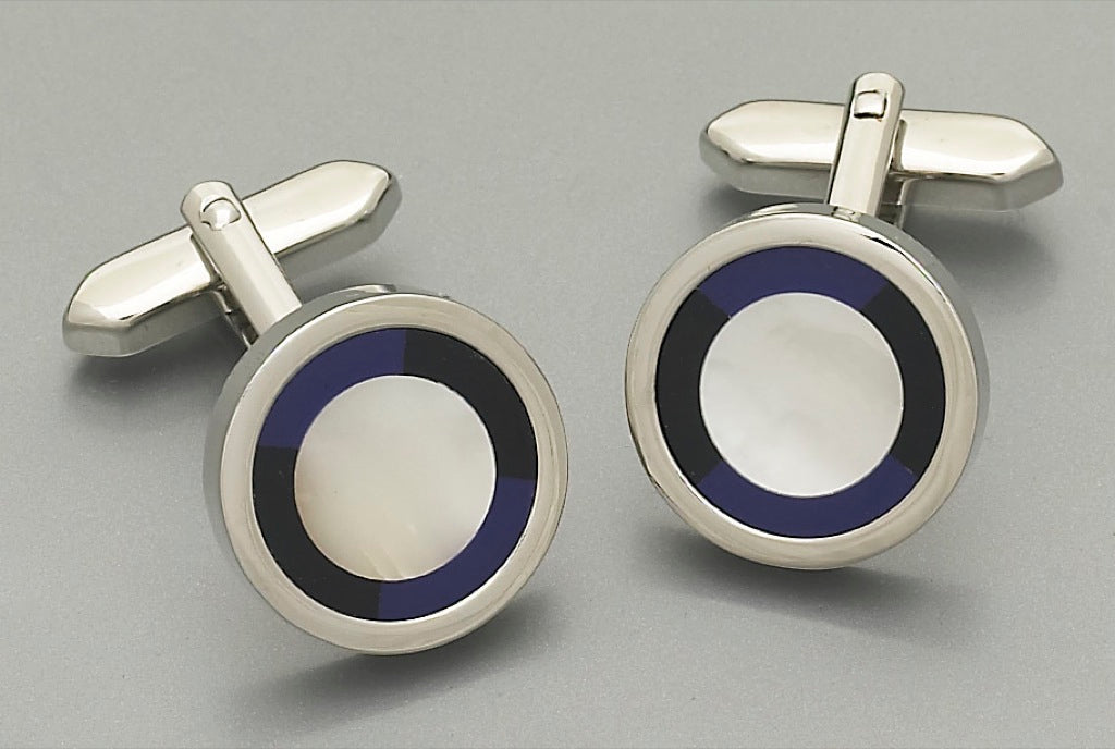Cufflinks -3073 Mother of Pearl/Onyx